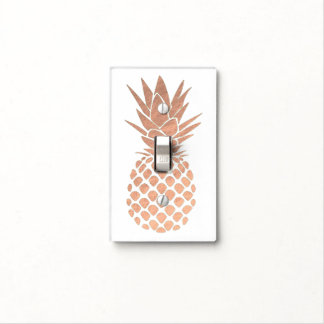 rose gold pineapple light switch cover