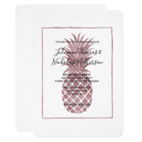 Rose Gold Pineapple Wedding Invites