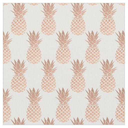 Rose Gold Pineapples Fabric Zazzle Com