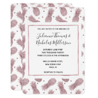 Rose Gold Pineapples Wedding Invites