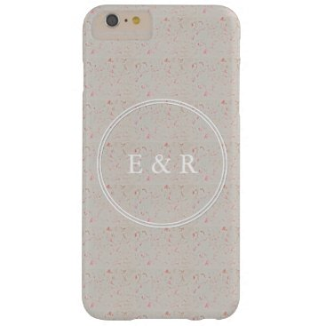Beach Themed Rose Gold Pink Champagne Swirled Marble Barely There iPhone 6 Plus Case