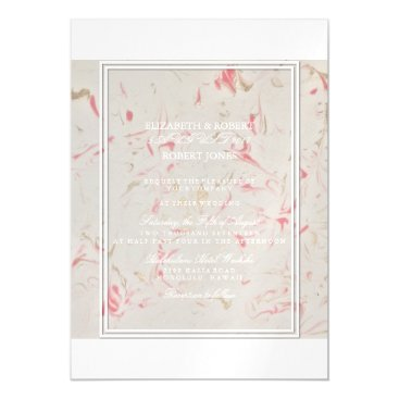 Beach Themed Rose Gold Pink Champagne Swirled Marble Magnetic Card