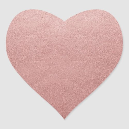 Rose Gold Pink Faux Foil Add Your Text or Logo Heart Sticker