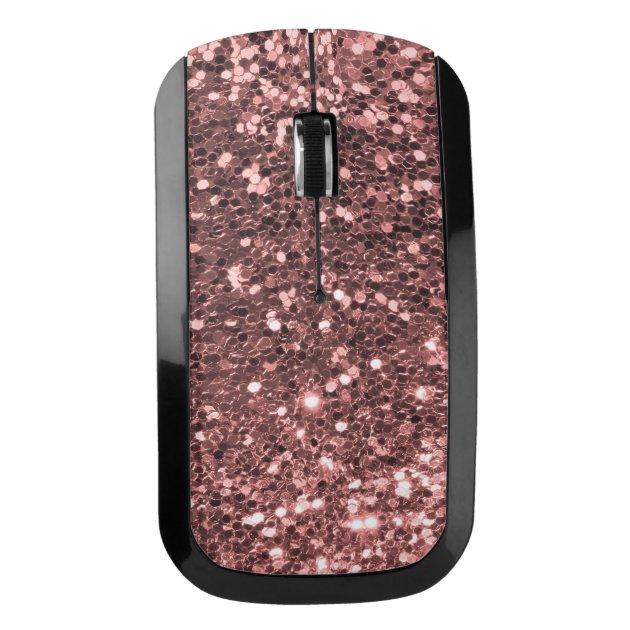 Rose Gold Pink Faux Glitter Shine Sparkle Print Wireless ...