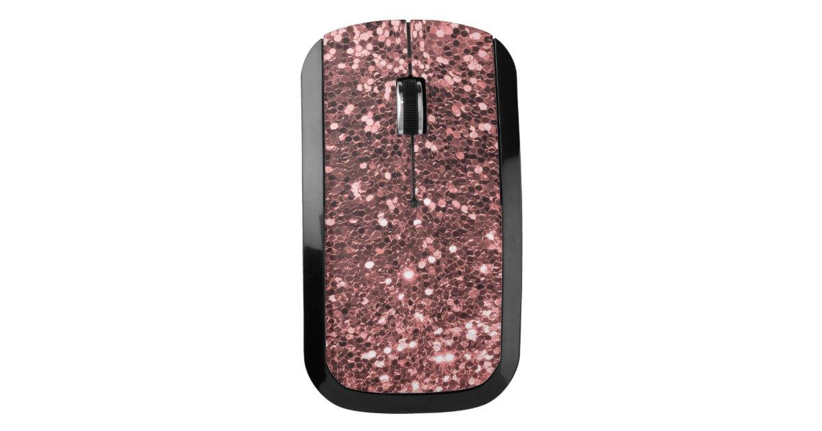 Rose Gold Pink Faux Glitter Shine Sparkle Print Wireless