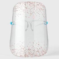 Rose Gold Pink Glitter Luxury Chic Modern Face Shield