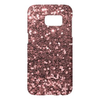 Rose Gold Pink Glitter Sparkles Samsung Galaxy S7 Case