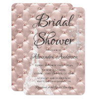 Paris bridal shower invitations announcements zazzle rose gold pink paris bridal shower invitation filmwisefo