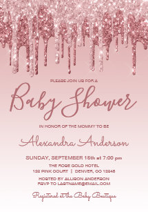 Sparkle Baby Shower Invitations Zazzle