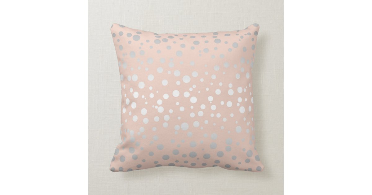 Decorative Pillows Rose Gold : Rose Gold Polka Dots ID128 Throw Pillow Zazzle