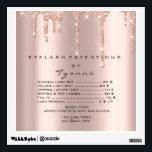 "Rose Gold Price List Makeup Artist Lashe Extension Wall Decal<br><div class=""desc"">florenceK design</div>"