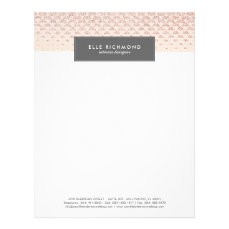 Rose Gold Professional Letterhead