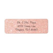 Rose Gold Return Address Labels