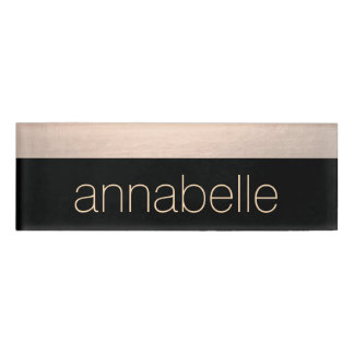 Rose Gold Salon Employee Staff Magnetic Name Tag