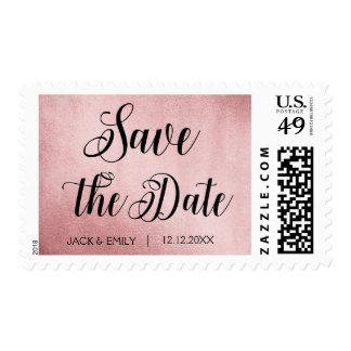 Rose Gold  Save the Date Postage Stamp