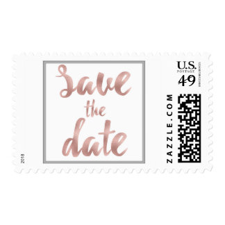 Rose gold save the date stamps *for postcards*