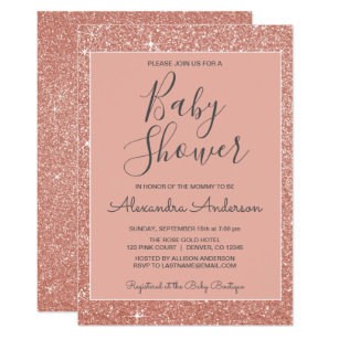 Sparkle Baby Shower Invitations Announcements Zazzle