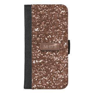 Rose Gold Sparkle Glitter iPhone Wallet Case