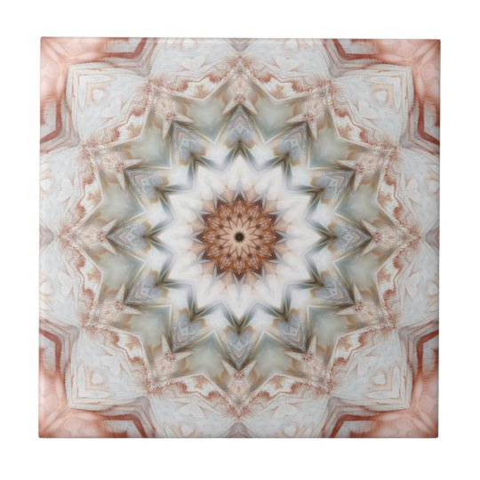 Rose Gold Star Feather Geometric Pattern Tile Zazzle Com
