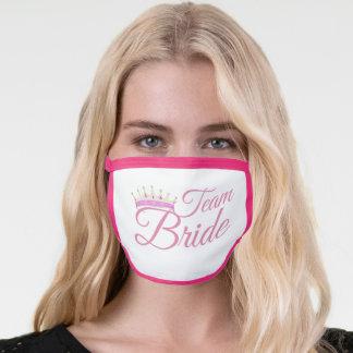 Rose gold team bride & bridal wedding tiara crown face mask