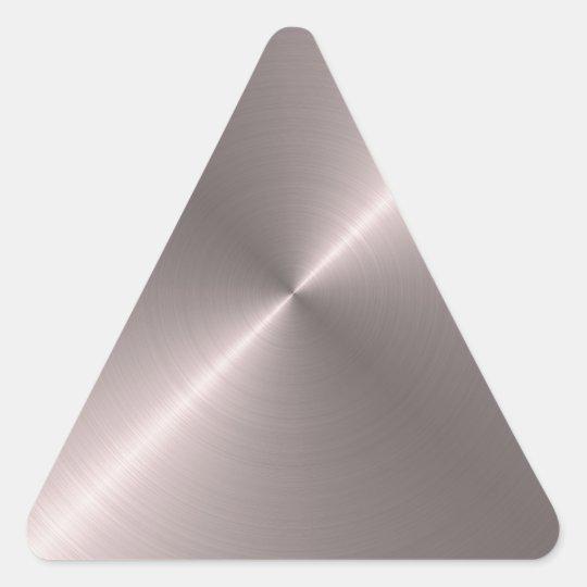 Rose Gold Triangle Sticker
