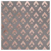 Rose gold  triangles chevron pattern geometric fabric