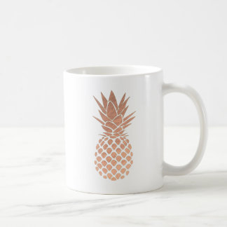 rose gold tropical pineapple coffee mug