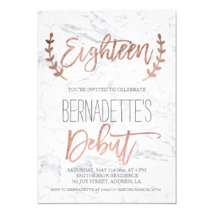 Debut Invitations Zazzle