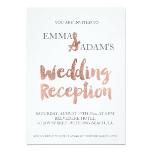 modern evening reception wedding invitations zazzle