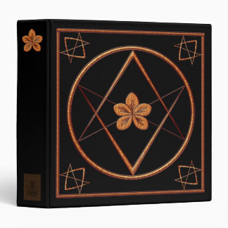 Rose Gold Unicursal 3 Ring Binder