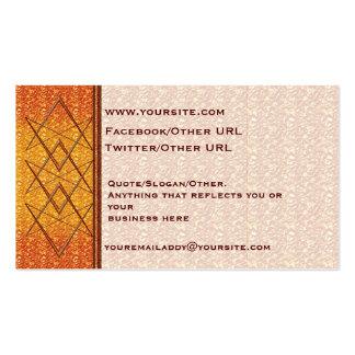 Rose Gold Unicursal Business Card