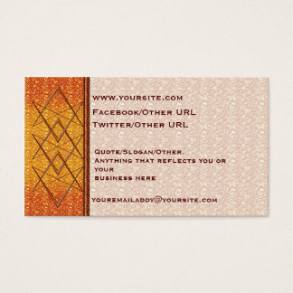 Rose Gold Unicursal Business Card