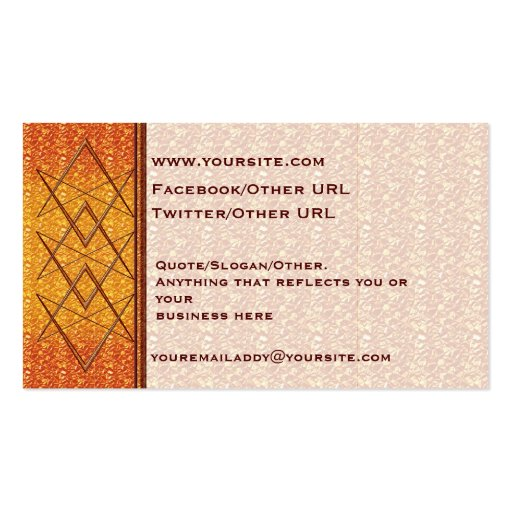 Rose Gold Unicursal Business Cards