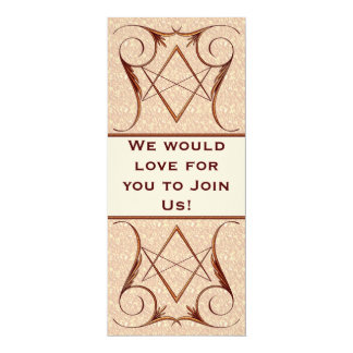 Rose Gold Unicursal Card