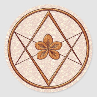 Rose Gold Unicursal Classic Round Sticker