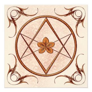 Rose Gold Unicursal Custom Invites