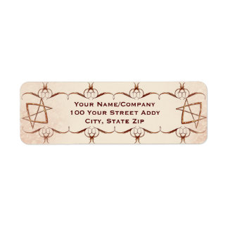 Rose Gold Unicursal Label
