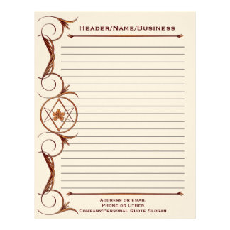 Rose Gold Unicursal Lined Letterhead