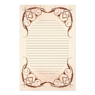 Rose Gold Unicursal Lined Stationery