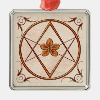 Rose Gold Unicursal Metal Ornament