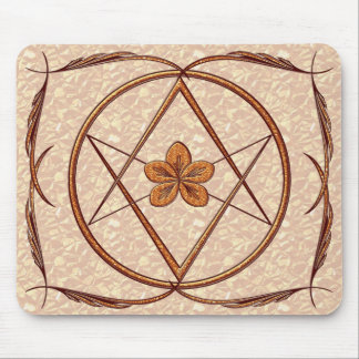 Rose Gold Unicursal Mouse Pad