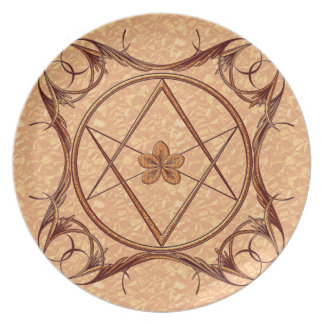 Rose Gold Unicursal Party Plate