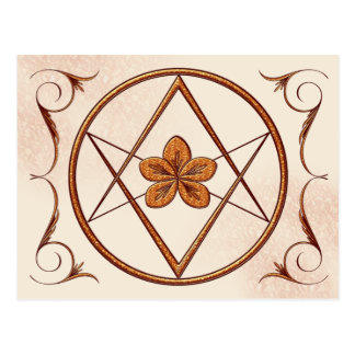 Rose Gold Unicursal Postcard