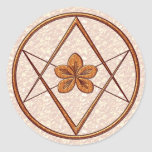 Rose Gold Unicursal Round Stickers