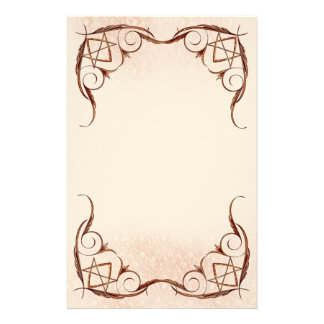 Rose Gold Unicursal Stationery
