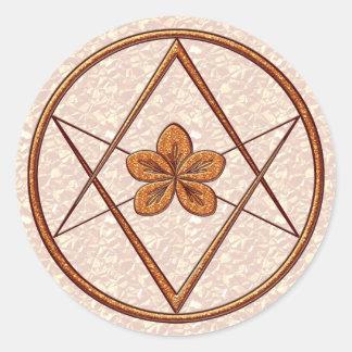 Rose Gold Unicursal Round Stickers