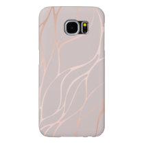 Rose gold, wave,beautiful,feminine,chic,elegant,me samsung galaxy s6 case