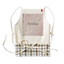 Rose gold, wave,beautiful,feminine,chic,elegant,me zazzle HEART apron