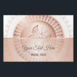 "Rose Gold White Butterfly Mandala Lawn Sign<br><div class=""desc"">rose gold white butterfly mandala stylish trendy modern text name personalize customizable elegant animal</div>"