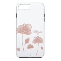 Rose Gold & White iPhone Case